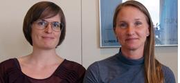 Lina Maria Ellegård och Anna Häger Glenngård